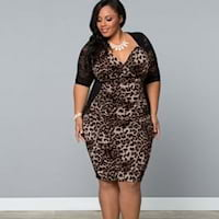 Plus size animal print dresses from Kiyonna