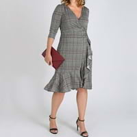 Plus size wrap dresses from Kiyonna