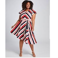 Plus size striped dresses from Lane Bryant