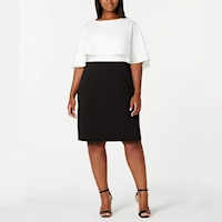 Plus size black and white dresses from Macy's