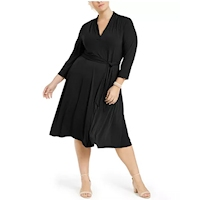 Plus size black dresses from Macy's