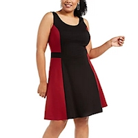 Plus size colorblock dresses from Macy's