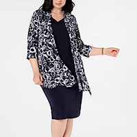Plus size jacket dresses from Macy's