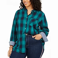 Plus size plaid fashions from Macy's