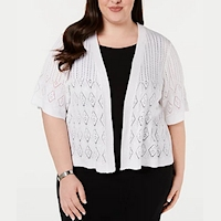 Plus size shrugs from Macy's