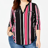 Plus size striped apparel from Macy's