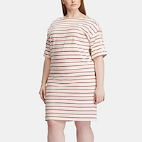 Plus size striped dresses from Macy's