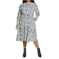 Plus size black and white dresses from Nordstrom