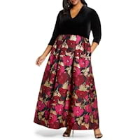Plus size formal gowns from Nordstrom