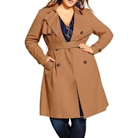 Plus size trenchcoats from Nordstrom